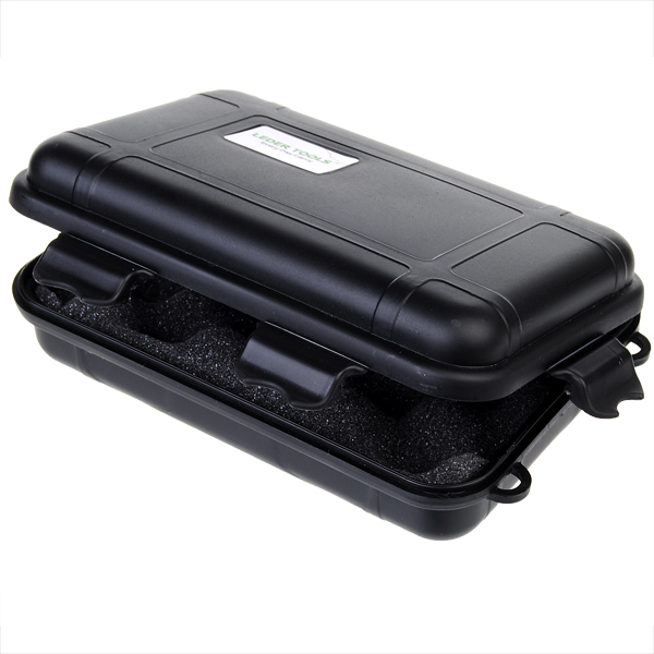 Waterproof Shockproof Hard Silicone Tool Storage Box Black