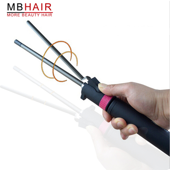 Salon professionnel revêtement en céramique fer à friser réglage de la température baguette bigoudi cheveux fers à friser bigoudi outils de coiffure