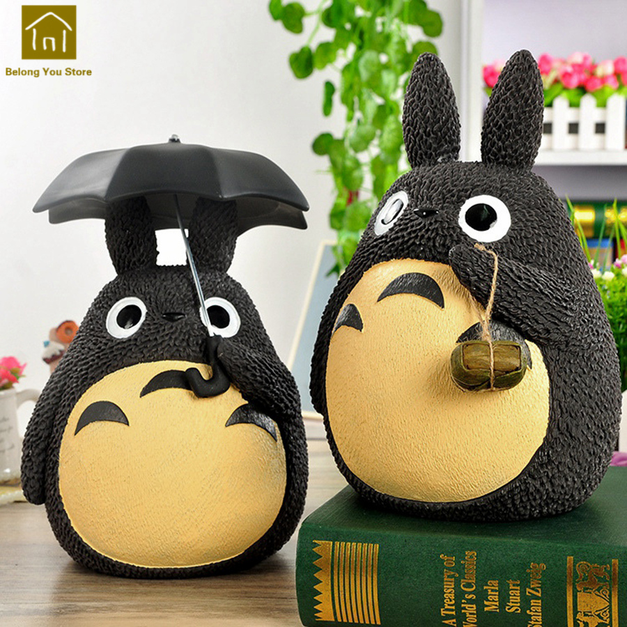Anmiation Kid Coins Resin Large Piggy Bank Cute Save Money Boxes Jar Favors Anime Funny Money Pots Decorations Products WKO014