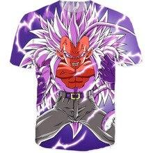 3D t shirt Ultimate Vegeta Tee purple hair super saiyan Dragon Ball Z cartoon tshirt women clothing men tops tees summer t-shirt