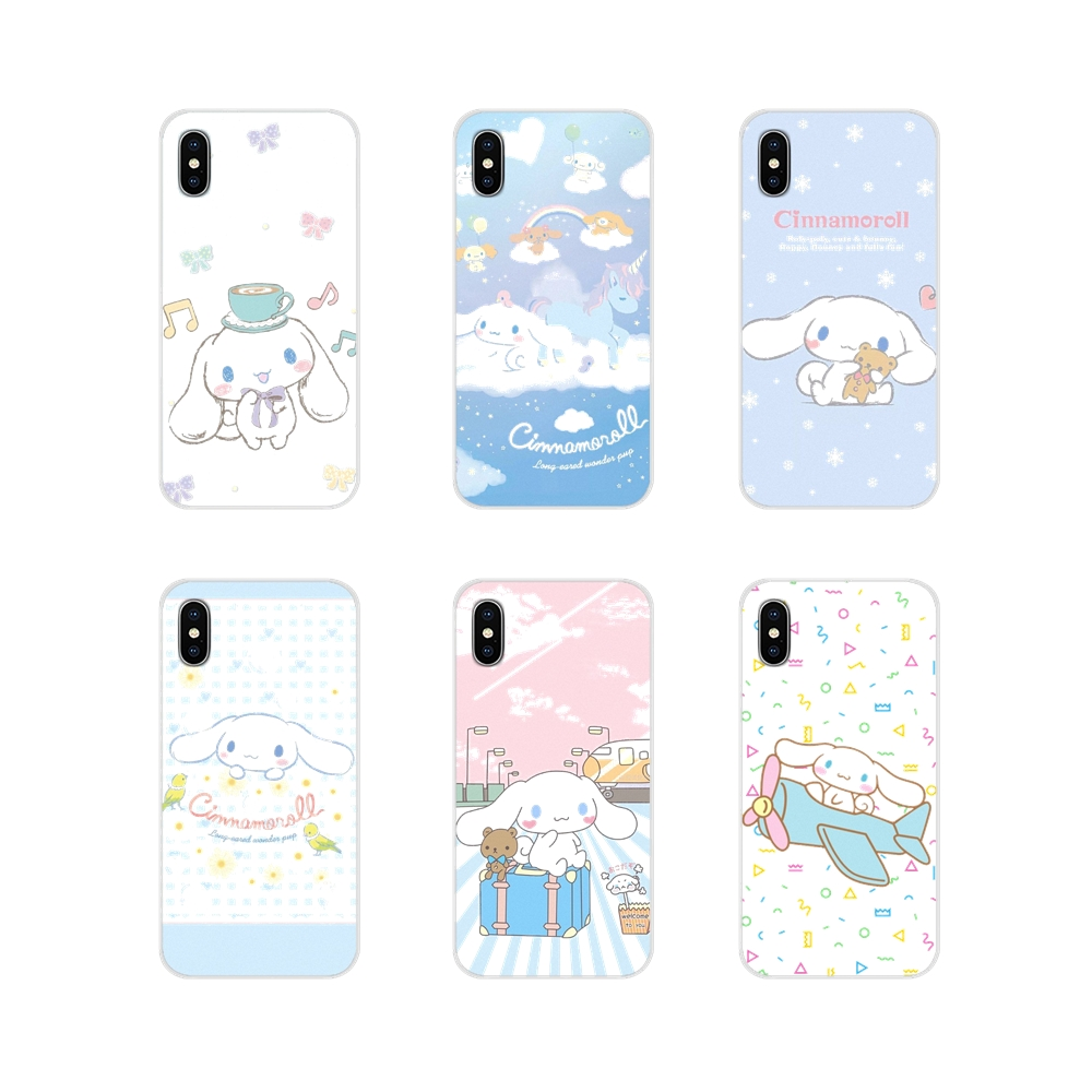Accesorios fundas de teléfono Cute cartoon cinnamoroll para Samsung Galaxy A3 A5 A7 A9 A8 Star A6 Plus 2018 2015 2016 2017