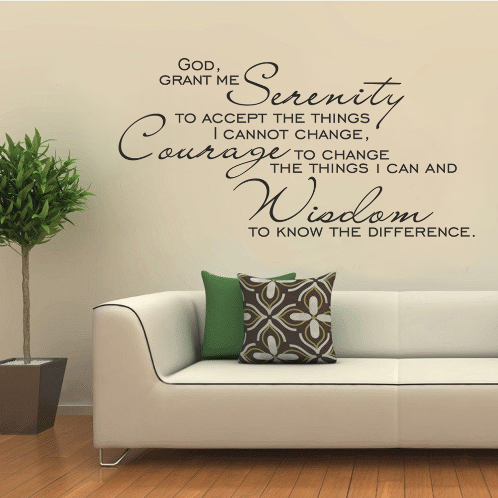 god grant me the serenity vinyl scripture wall decal christian art quote inspirational decal 43. Black Bedroom Furniture Sets. Home Design Ideas