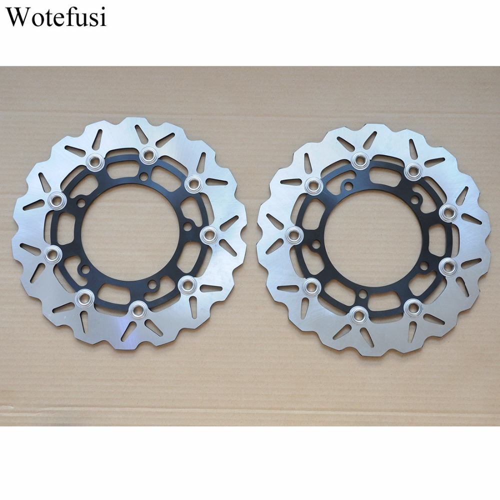 Wotefusi Motorcycle One Pair Front Brake Rotor Disc Disk For Suzuki SFV650 K9/L0/L1 Gladius 2009-2011 2010 SFV650 2012 [PA395]
