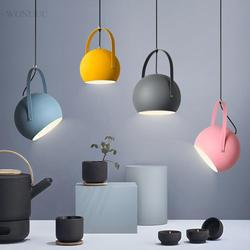 Многоцветный Nordic простой Hanglamp современный Ceative один подвесные светильники лампы диаметр 20 см домашние Декор Блеск pendente E27 Base
