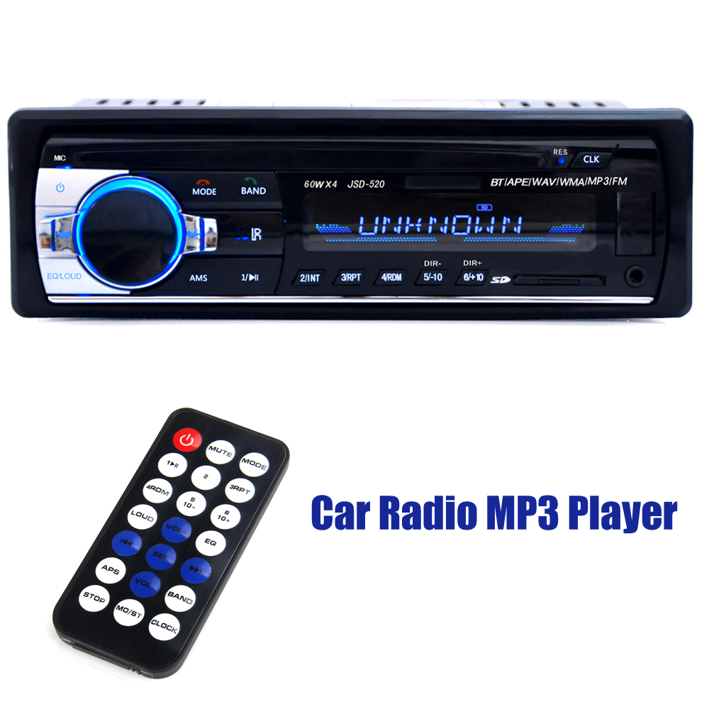 12V 1 Din Car Subwoofer Bluetooth Car font b Radio b font Stereo FM Auto Audio