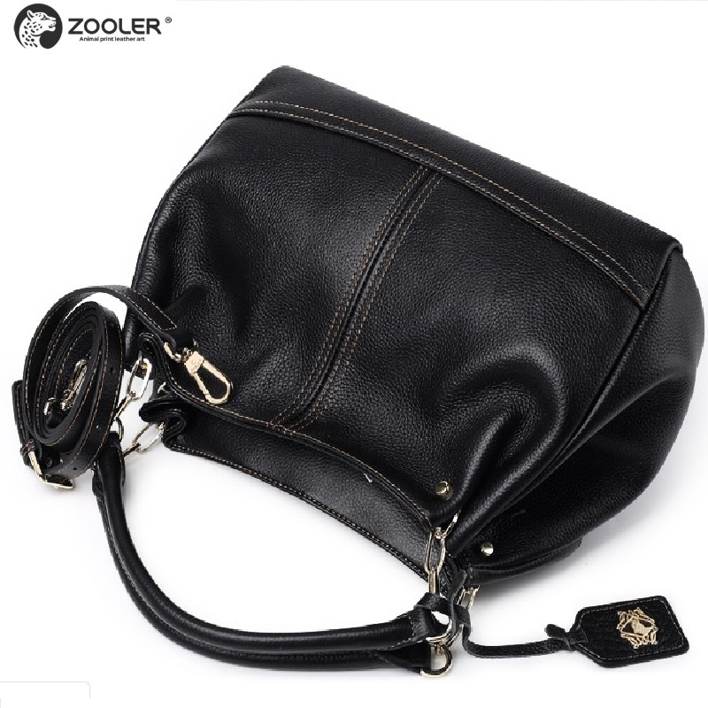 ZOOLER New 2017 Genuine Leather woman handbags fashion large capacity bag totes famous brand shoulder bags for ladies #BC-8160