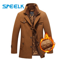 New Brand Winter Wool Coat Men Double-neck Woolen Jackets Male Plus Size 5XL Thick Jacket Mens Slim Fit Outwear Windbreaker(China)