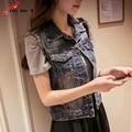 Plus Size 4XL 5XL Denim Coat  Women Spring Tank Top Summer Cowboy Female Restoring Short Coat Jeans Jacket Women
