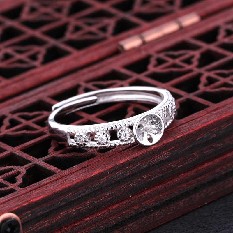 925 เงินสเตอร์ลิงสตรีงานแต่งงานแหวน 7-10 มม. รอบลูกปัดกึ่ง Mount Art Deco ขายส่ง