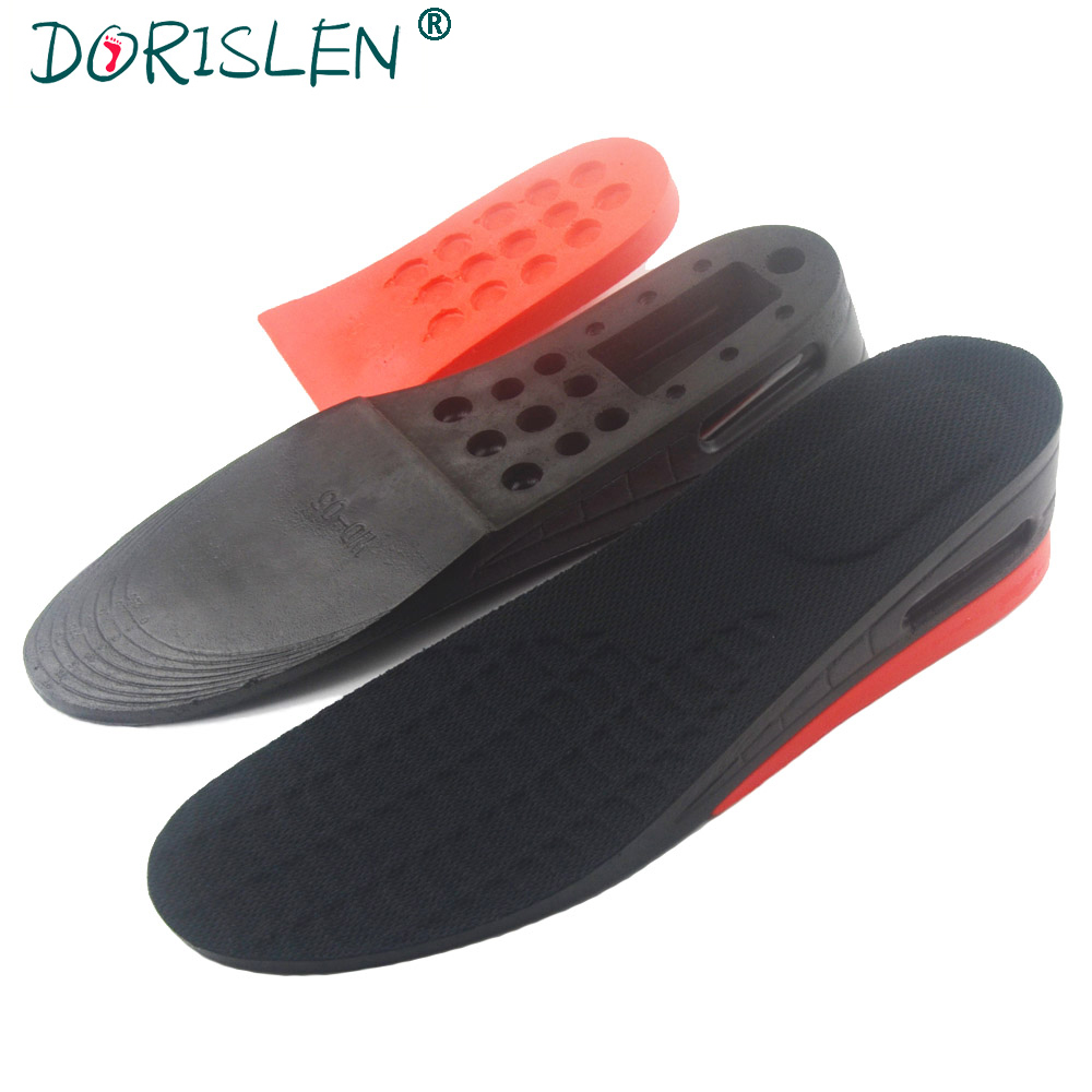 DORISLEN 2 Layer 5cm Air Cushion Height Increase Insoles For Men Women 100pairs/Lot