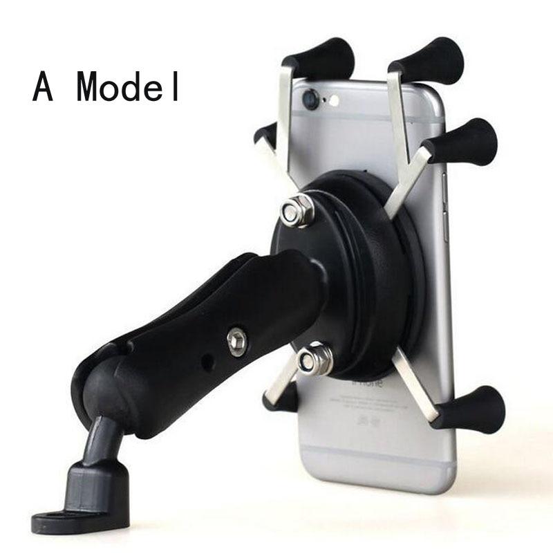 imágenes para Universal x-apretón de rotación motocycle mount motor bike titular del teléfono celular para xiaomi con 2.1a usb cargador de enchufe para 3.5-6 pulgadas