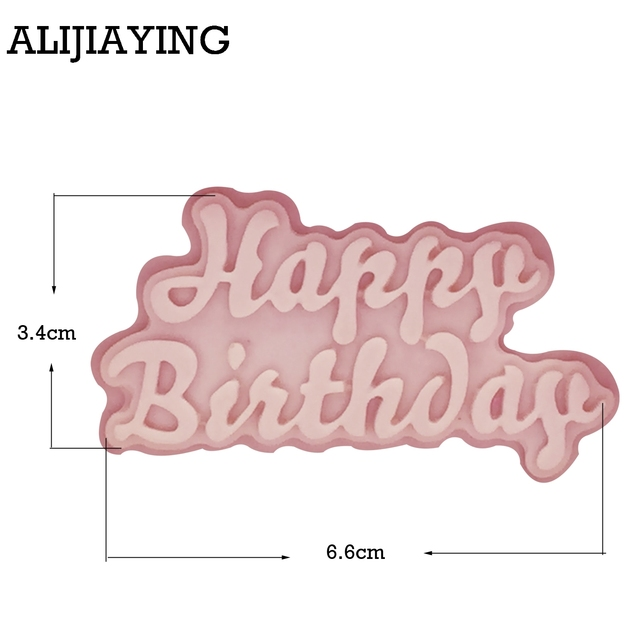 M1174 Silicone 3D Happy Birthday Letters Numers Mold For Ice Jelly Chocolate Mold Birthday Cake Decorating Tool Mould