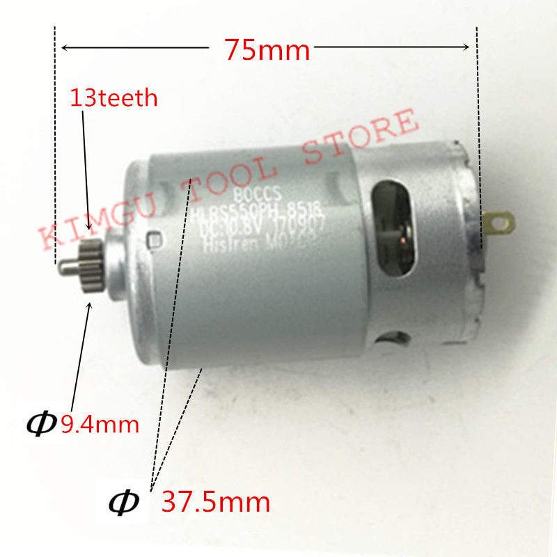 цена на 13 Teeth RS-550VC-8518 Motor 10.8V 12V Replace for BOSCH GSR10.8-2-LI GSR12-2-LI GSR10.8V-LI GSR12-LI PS21 GSR10.8V-LI-2