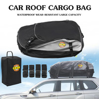 Waterproof Cars Roof Top Cargo Carrier Bag Travel Storage Pack Saddlebags Strong nylon/PVC Coating Material Foldable Black/Grey