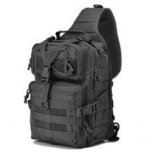Tactical Sling Bag Pack Military Rover Shoulder Sling Backpack Molle Assault Range Bag EDC Bag Day Pack with USA Tactical Flag