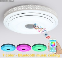 New RGB Dimmable 36W LED ceiling Lights with Bluetooth & Music modern Led ceiling lamps Lighting fixture