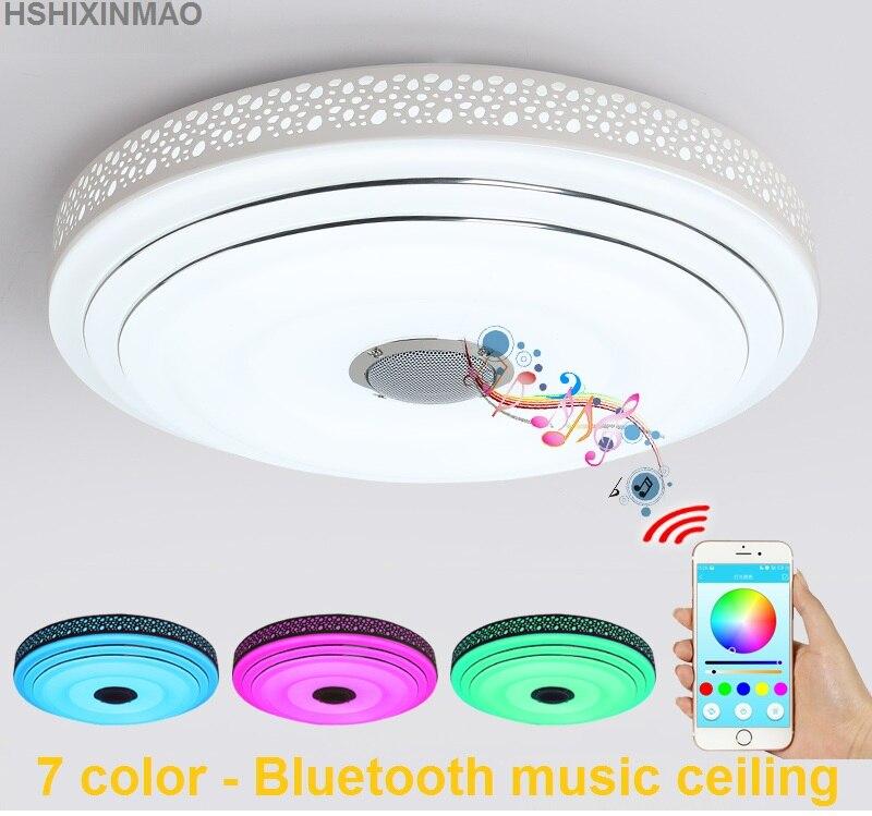 Nouveaux plafonniers de LED Dimmable 36 W de rvb avec l'appareil d'éclairage de lampes de plafond moderne à LEDs de Bluetooth et de musique