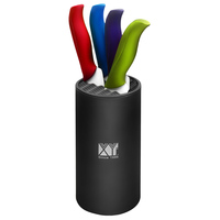XYJ Brand 7 Inch Chef Kitchen Knives Colorfully Ceramic Knives ABS TPR Handle Plastic Knife Holder