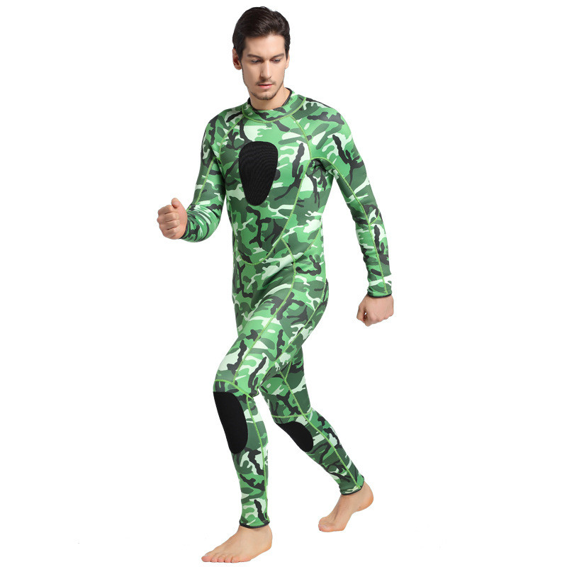 2017 Hot Winter Warm Swimwear Rashguard Men Swimsuit One Piece Snorkeling Diving Suits Man Camouflage 3MM Neoprene Wetsuit men s winter warm swimwear rashguard male camouflage one piece swimsuit 3mm neoprene wetsuit man snorkeling diving suit