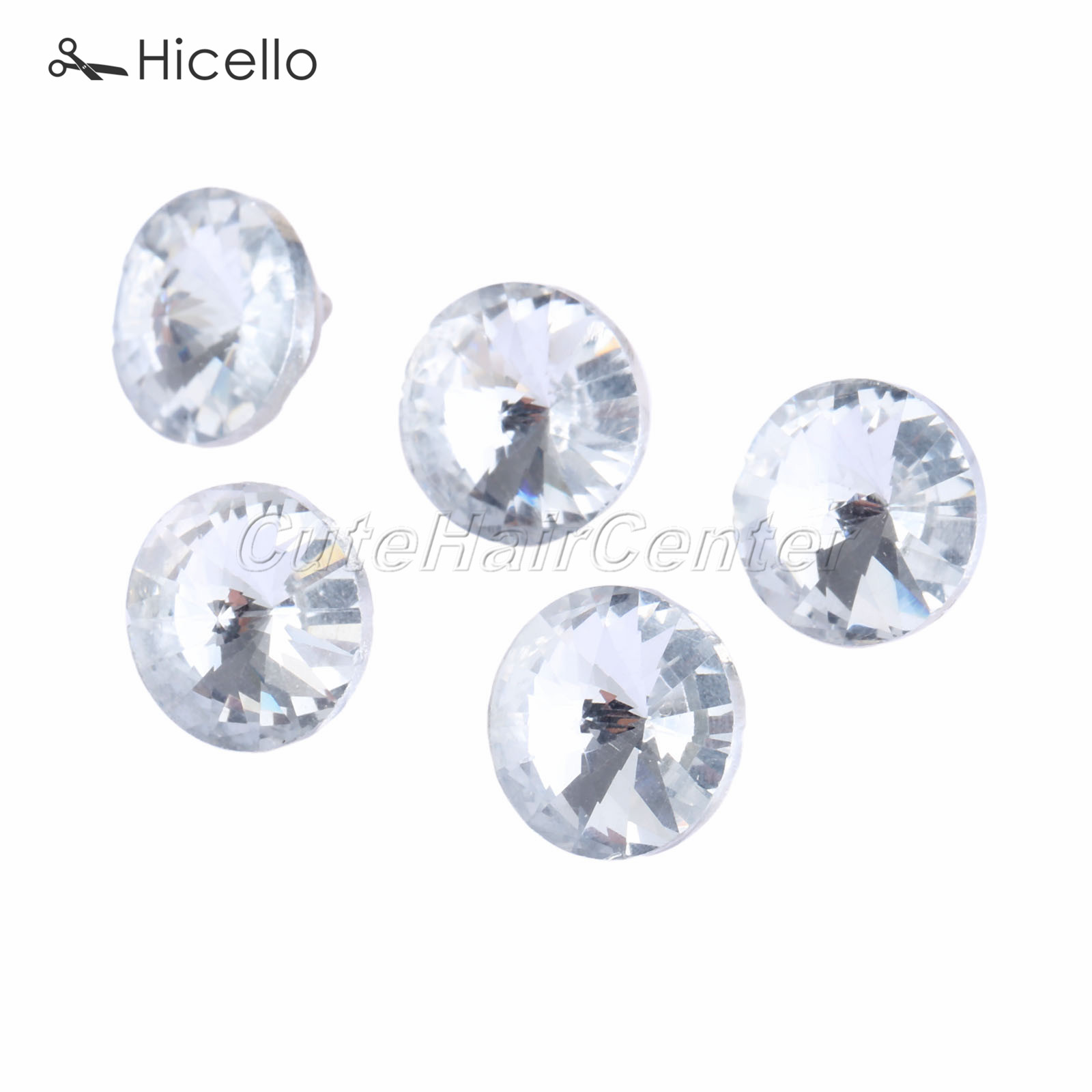 10pcs Crystal Upholstery Nails Button 14mm Glass Diamond Tacks Pins Knot Sewing Sofa Furniture Decoration Hicello