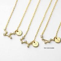 constellation necklace best friend gift women girlfriends necklace 12 horoscope custom necklace birthday gift memorial gift
