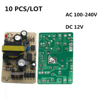10 PCS/LOT 12V 2A Switching Power Supply Module new IC chip Regulator Switch Power bare board Monitor LED Lights AC 100-240V цена