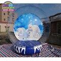 Новогоднее украшение надувной шар снега комплект для наружной рекламы