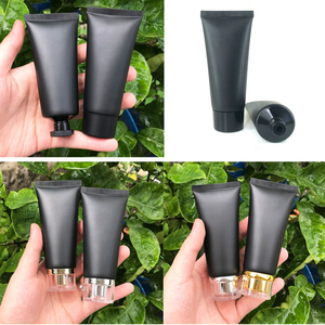 Image 3 - 60ml Frost Black Plastic Cream Squeeze Bottle 60g Cosmetic Facial Cleanser Soft Tube Shampoo Lotion pack Bottles Free Shipping