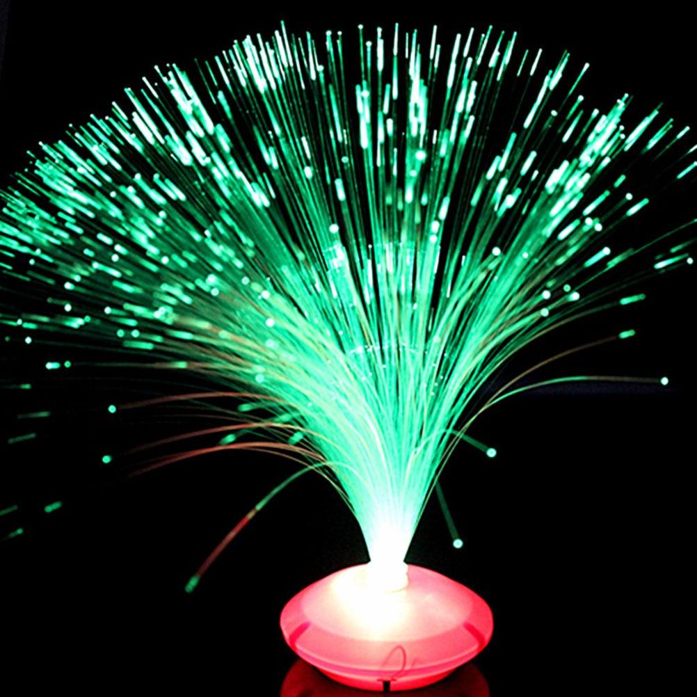 1PCS Beautiful Romantic Color Changing LED Fiber Optic Nightlight Lamp small night light Chrismas Party Home decoration цена