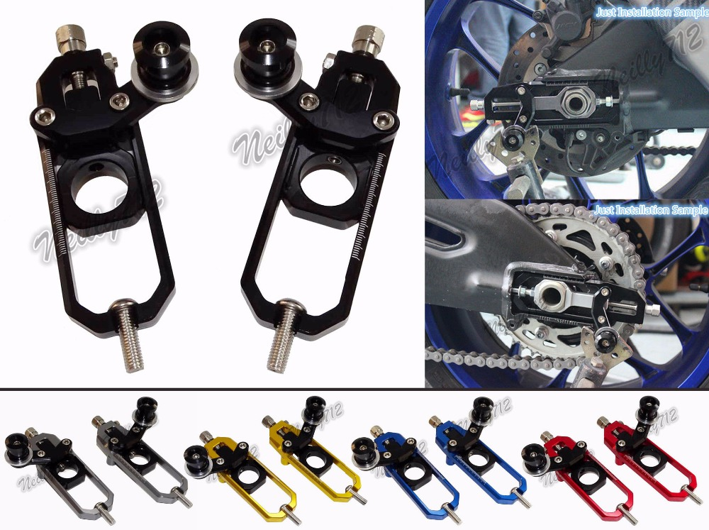 Motorcycle Chain Adjusters with Spool Tensioners Catena For Honda CBR1000RR 2008 2009 2010 2011 2012 2013 2014 2015 2016 arashi motorcycle radiator grille protective cover grill guard protector for 2008 2009 2010 2011 honda cbr1000rr cbr 1000 rr