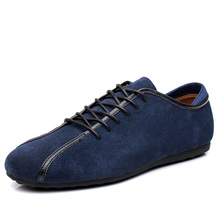 Loveontop 2019 Spring Men Suede Sneakers Casual Shoes New Fashion Lace Up  Male Flat Comfortable Blue dc3ca472d350