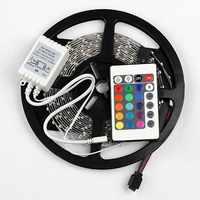 5 mt/teile SMD 3528 RGB 300 LED Farbwechsel Kit mit Flexible Streifen Licht + 24 Schlüssel IR Fernbedienung