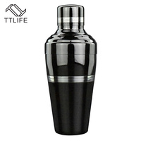 4YANG New Stainless Steel Cocktail Shaker Bartender Dedicated Japanese Style Bar Tool Shake Wine Pot Bar Accessories 510ml