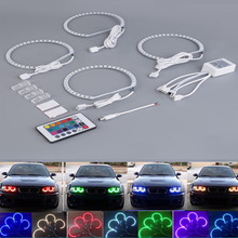 2017 New 4pcs 4*131MM Multi-Color 5050 Flash LED Car ANGEL EYES Headlight Rings kit for BMW E36 E38 E39 E46 RGB Hot Car-styling