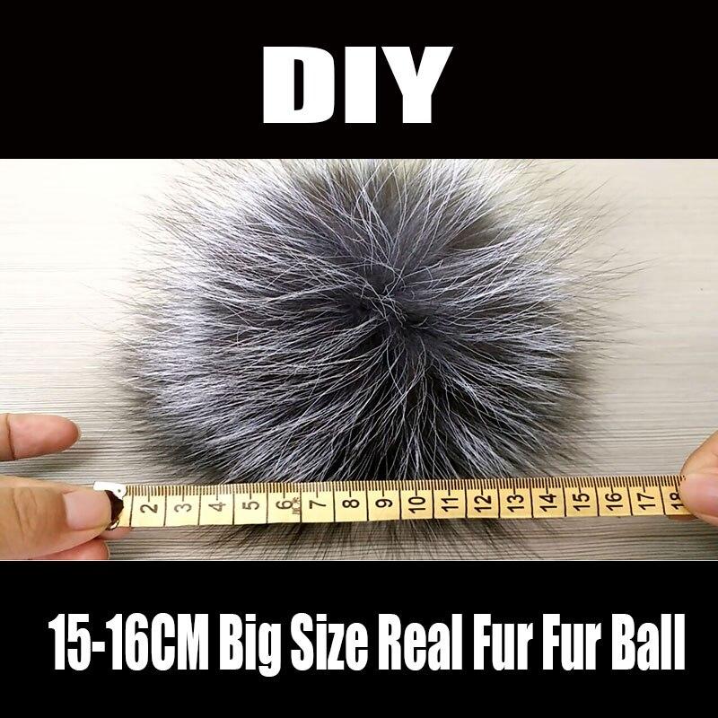 FARSARCAR 100% Luxury 16cm Big Raccoon Fur Ball Real Raccoon Fur Pom Poms Ball Fur For Women Winter Hats Gloves DIY Accessories цена и фото