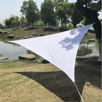3.6 x 3.6 x 3.6 M/pcs Waterproof Shade Sail with Arc edge design for patio sun shade