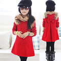 Hot selling!2015 new Winter and Autumn girls woolen jacket coat Kids double-breasted wool coat child Fashion coat