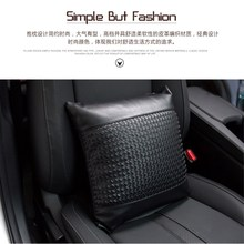 Brand genuine leather handwoven headrest universal comfortable healthy breathable pillow providing quality assurance for car цены