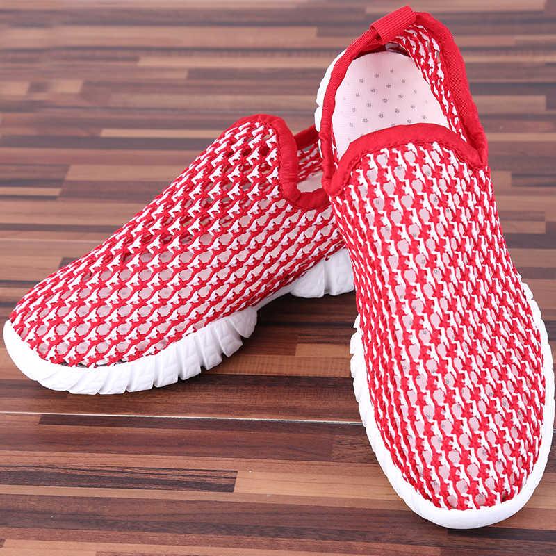 2018 été hommes chaussures de sport nautique maille évider respirant baskets hommes eau plage chaussures femme homme baskets vêtements de sport