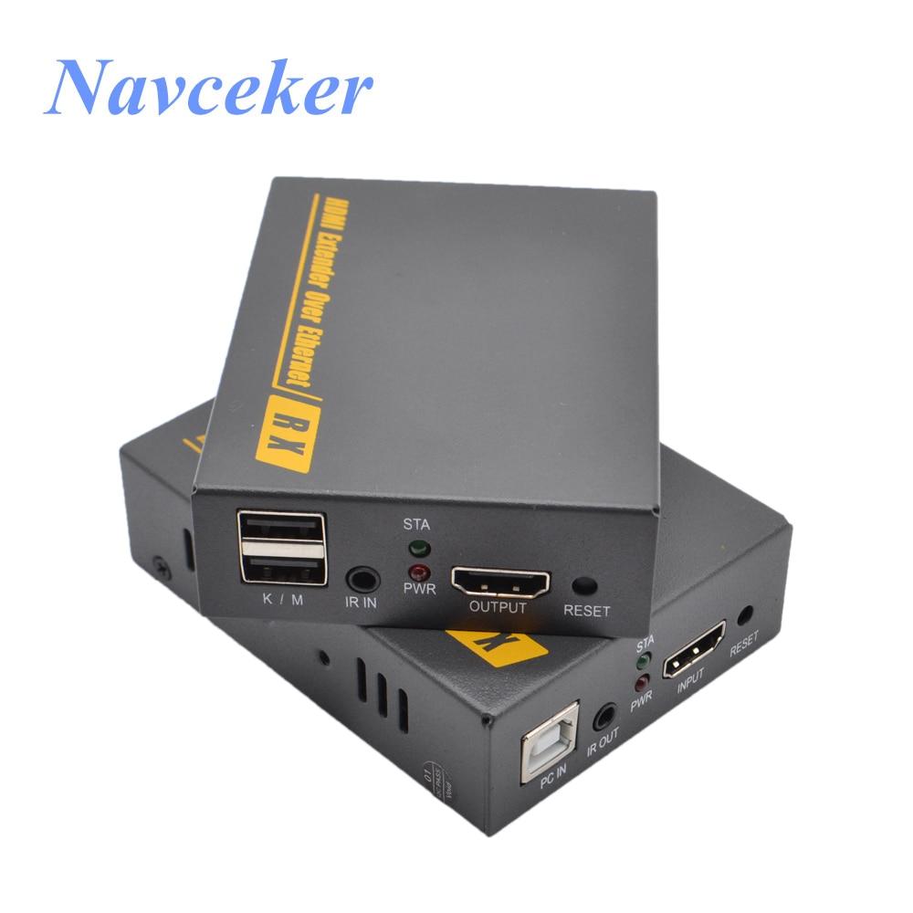 150m IP KVM Extender USB HDMI Support IR ZY-DT103KM HDMI KVM Extender Over TCP/IP By RJ45 UTP/STP KVM Extender CAT5 CAT6 Network