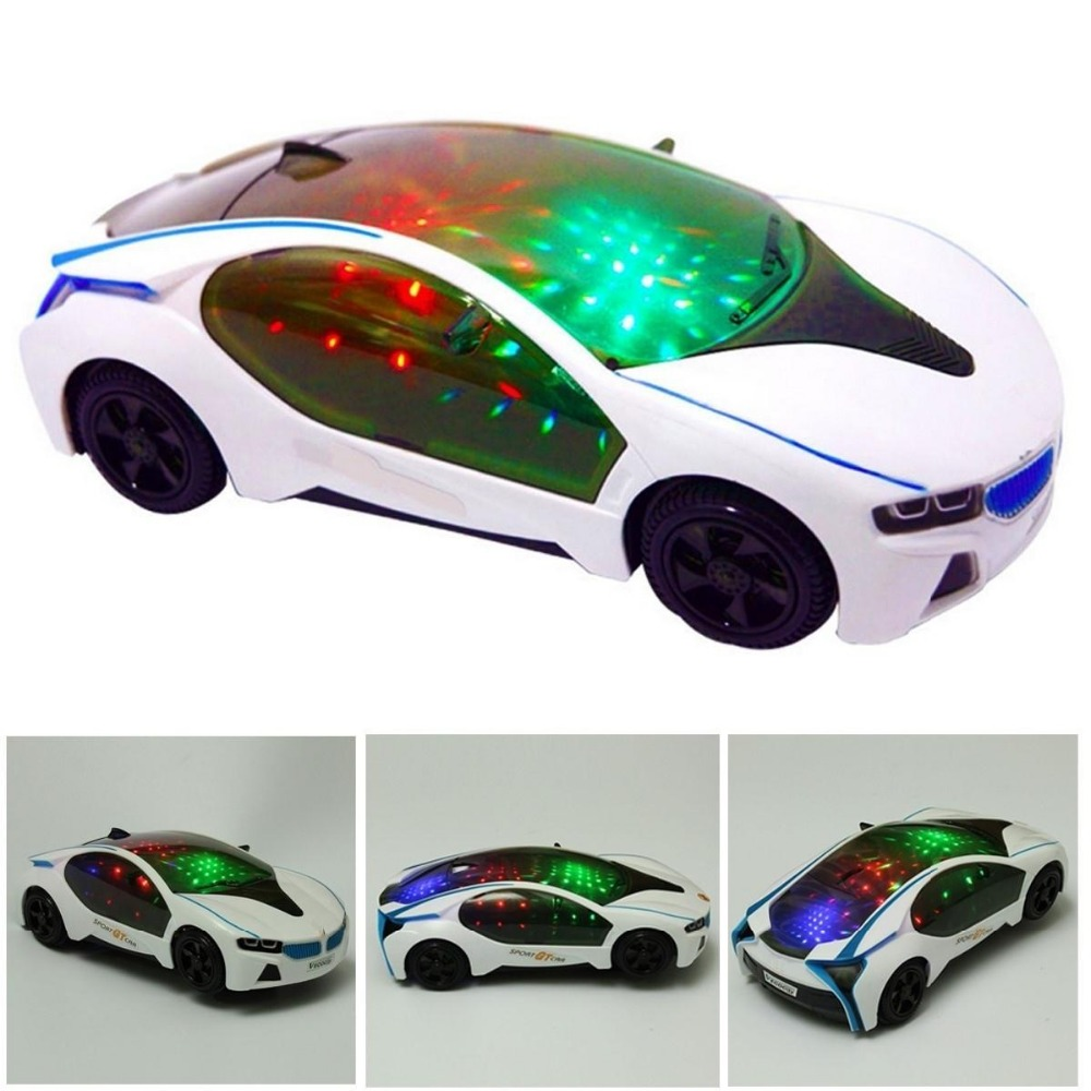 3D Flashing Mild Automotive Toy Music Electrical Toy Vehicles For Boys Youngsters Youngsters
