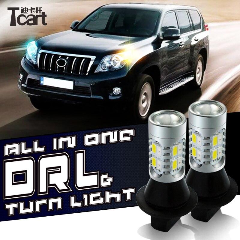Tcart 7440 WY21W T20 LED DRL tagfahrlicht Blinker drl lichter auto lichter für Honda Civic 2011 2012 2017 2018