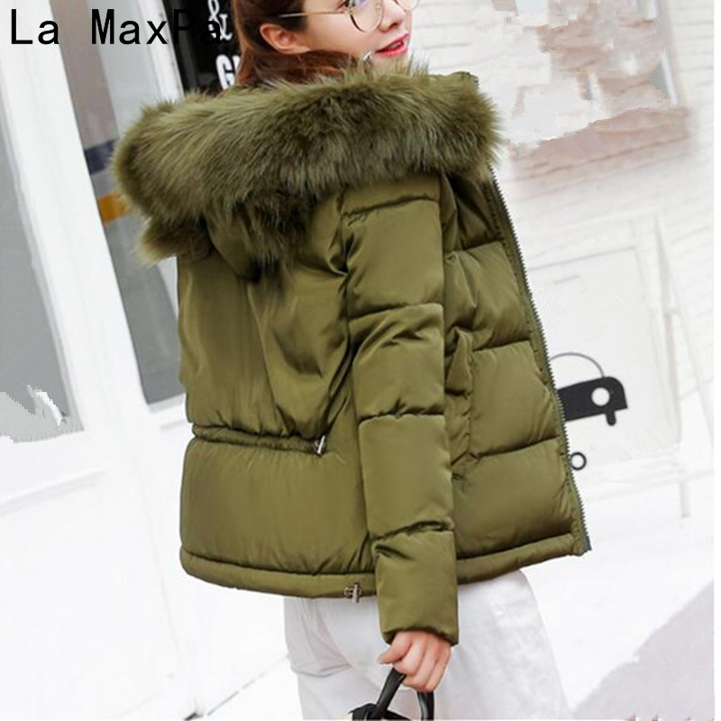 Neploe New Winter Jacket Warm Fur Collar Down Wadded Coat 2017 Slim Fit Solid Cotton-padded Jackets Thick Women Short Coat neploe new winter jacket warm fur collar down wadded coat 2017 slim fit solid cotton padded jackets thick women short coat