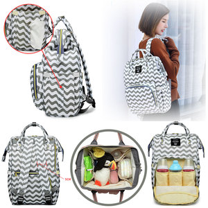 Image 5 - LEQUEEN Diaper Bags Nappy Backpacks Bags Mummy Large Mom Baby Multi function Waterproof Outdoor Travel Diaper Bags for Baby Care