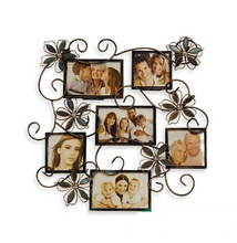 Custom European creative photo wall, wrought iron like picture frames Idyllic frame The leaves