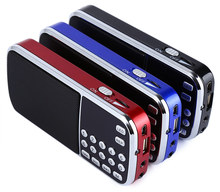 FM Radio L-088 Portable Speaker MP3 Audio Music Player Loudspeaker with Flashlight USB AUX TF Slot