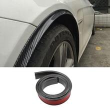 Carbon Car Fender Flare Extension Wheel Eyebrow Protector Car Tires Eyebr Soft Lip Wheel-Arch Trim Wheel Arch Decorative Strip стоимость