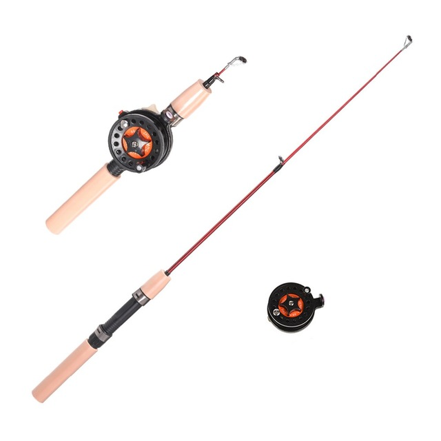 YUYU ice Fishing Rod with fishing reel Mini rod Portable telescopic Fishing Rod Winter fishing set 60cm