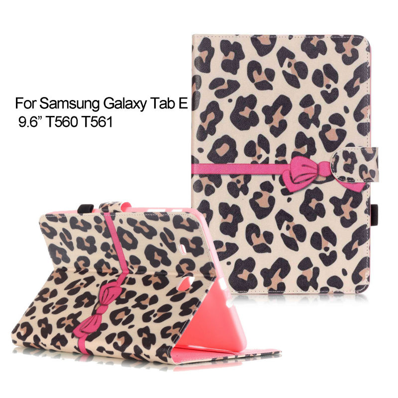 For Samsung Galaxy Tab E 9.6 T560 SM-T560 T561 Cases Painting Style PU Leather Stand Case Cover For Samsung Tab E 9.6 KF467D планшет samsung galaxy tab e sm t561 sm t561nzkaser