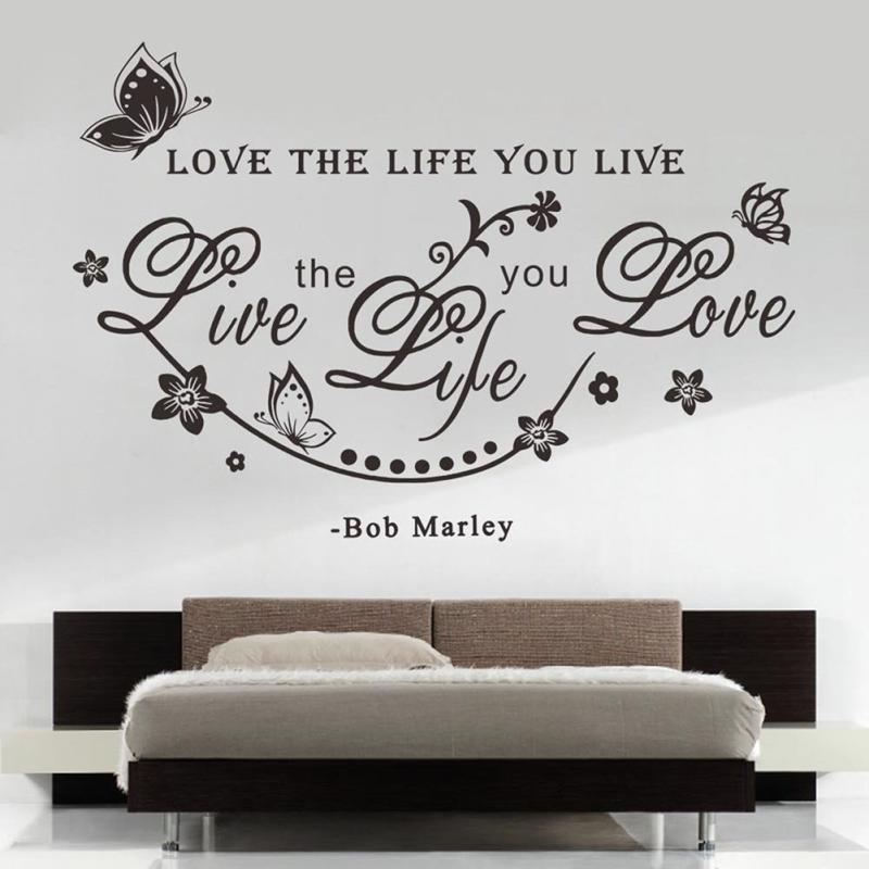 Removable Bob Marley Quote Decals Art Vinyl Erfly Wall Sticker Home Decoration Black White Color In Stickers From Garden On Aliexpress